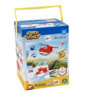 Super Wings Puzzle 48 Pezzi Color Double Con Pennarelli