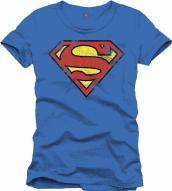 Superman - Cracked Destroy Logo Cobalt (T-Shirt Uomo Xxl)