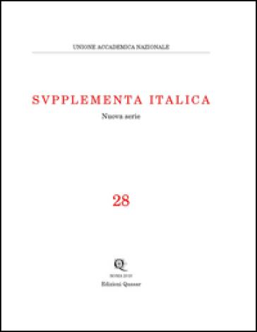 Supplementa Italica . 28. - M. S. Bassignano |