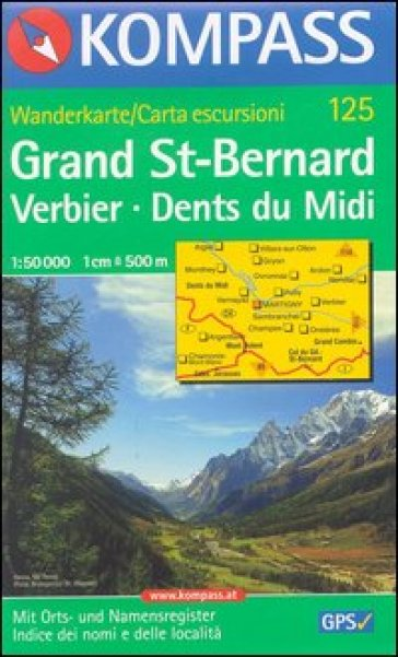 Svizzera, Alpi occidentale. Grand St.-Bernard 1:50.000. Adatto a GPS. DVD-ROM. Digital map