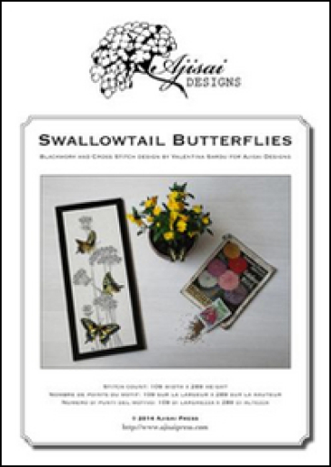 Swallowtail butterflies. Cross stitch and blackwork design - Valentina Sardu |