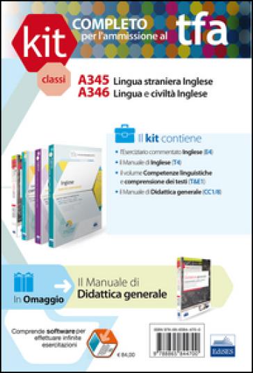 TFA. Classi A345-A346 per prove scritte e orali. Manuale di teoria ed esercizi di lingua e cultura inglese. Kit completo. Con software di simulazione (4 vol.)