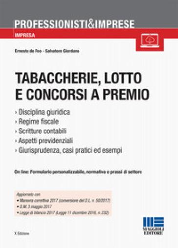 Tabaccherie, lotto e concorsi a premio - Ernesto De Feo pdf epub