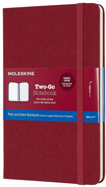 Taccuino TWO-GO - Medium - a righe/pagine bianche - Rosso Cranberry