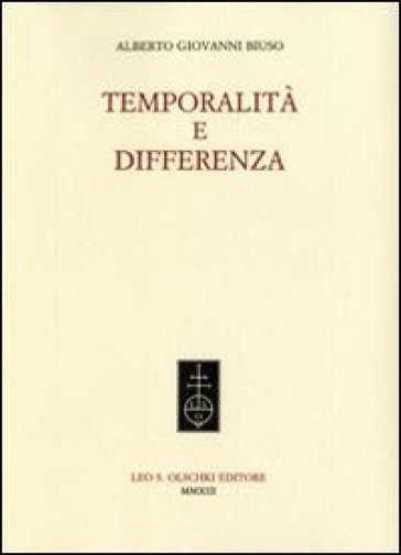 Temporalità e differenza - Alberto G. Biuso pdf epub