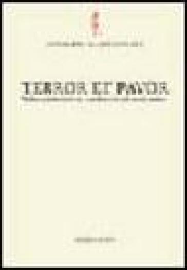 Terror et pavor. Violenza, intimidazione, clandestinità nel mondo antico - Gianpaolo Urso | Ericsfund.org