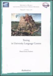 Testing in university language centres