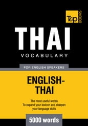 Thai vocabulary for English speakers - 5000 words