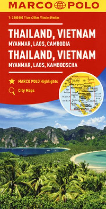 Thailandia, Vietnam. Myanmar, Laos, Cambogia 1:2.500.000. Ediz. multilingue -  pdf epub