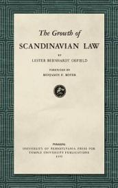 The Growth of Scandinavian Law (1953)