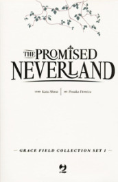 The promised Neverland. Grace field collection set. Con 3 cartoline. 1.