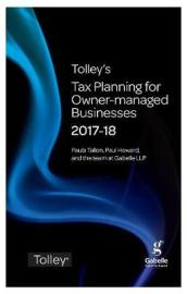Tolley s Tax Planning for Owner-Managed Businesses 2017-18