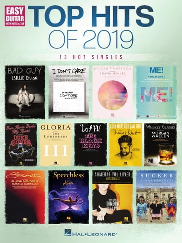 Top Hits of 2019 Easy Guitar Songbook