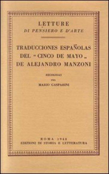 Traducciones espanolas del «Cinco de Mayo» de Alejandro Manzoni - Mario Gasparini |