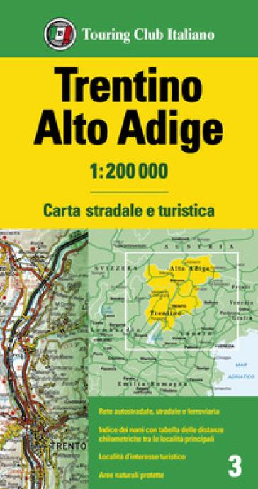 Trentino Alto Adige 1:200.000. Carta stradale e turistica
