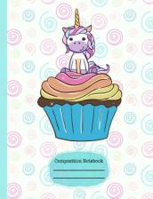 Unicorn Cupcake Whimsical Composition Notebook