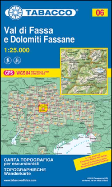 Val di Fassa. Dolomiti fassane 1:25.000