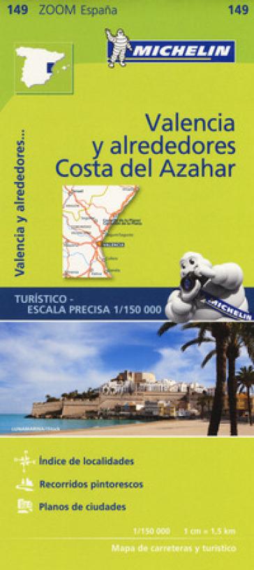 Valencia y alrededores-Costa del Azahar 1:150.000