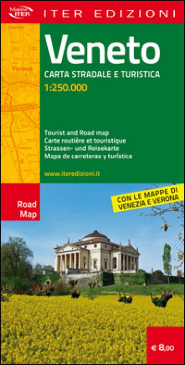 Veneto. Carta stradale e turistica 1:250.000. Ediz. multilingue