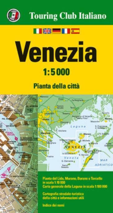 Venezia 1:5.000. Ediz. multilingue
