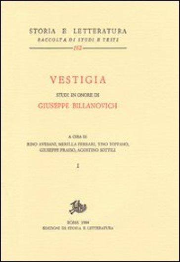 Vestigia. Studi in onore di Giuseppe Billanovich - R. Avesani   Jonathanterrington.com