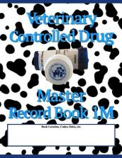 Veterinary Controlled Drug Master Record Book 1m