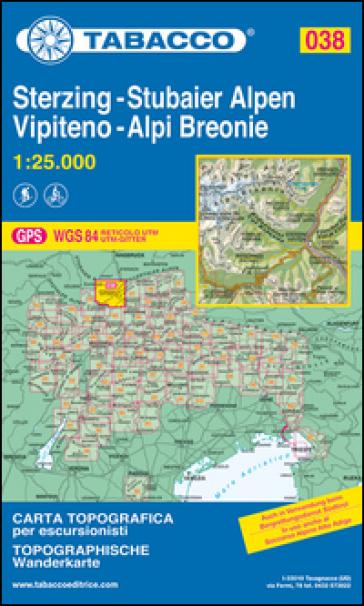 Vipiteno. Alpi Breonie 1:25.000