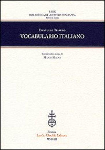 Vocabulario italiano - Emanuele Tesauro | Rochesterscifianimecon.com