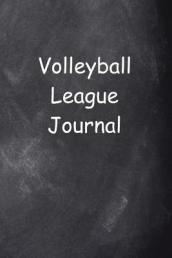 Volleyball League Journal Chalkboard Design