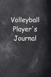 Volleyball Player s Journal Chalkboard Design