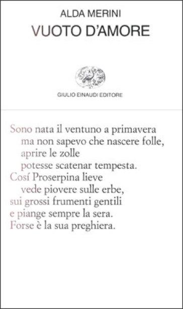 Vuoto d'amore - Alda Merini |