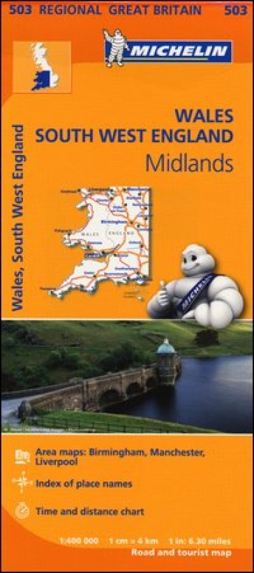 Wales, South West England, Midlands 1:400.000