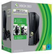 XBOX 360 250GB + Batman AC+Darksiders II