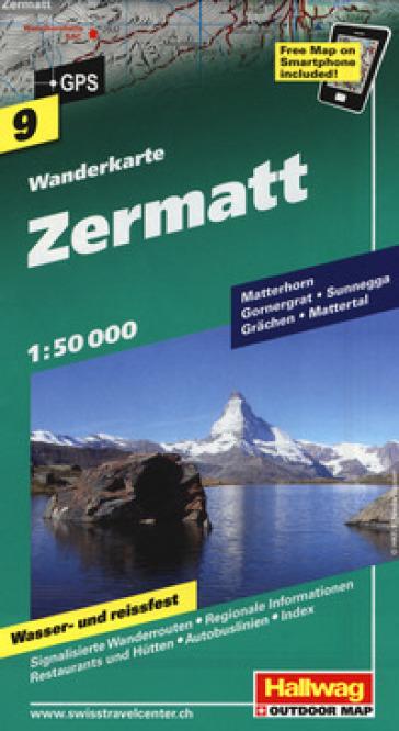 Zermat 1:50.000. Carta escursionistica