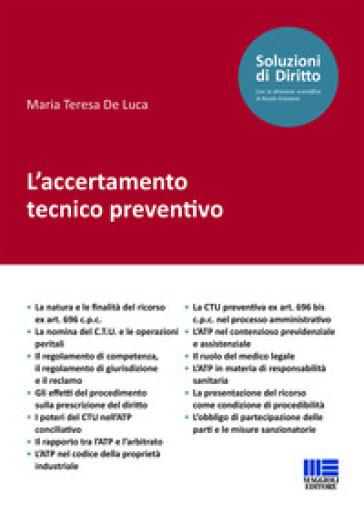 L'accertamento tecnico preventivo - Maria Teresa De Luca | Rochesterscifianimecon.com