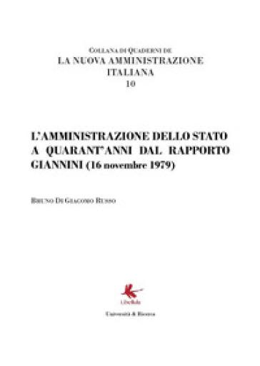 L'amministrazione dello Stato a quarant'anni dal Rapporto Giannini (16 novembre 1979) - Bruno Di Giacomo Russo pdf epub