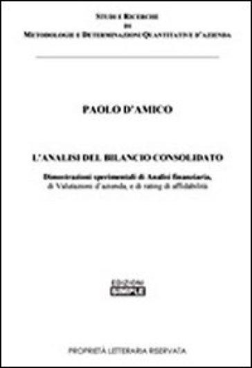 L'analisi del bilancio consolidato - Paolo D'Amico |