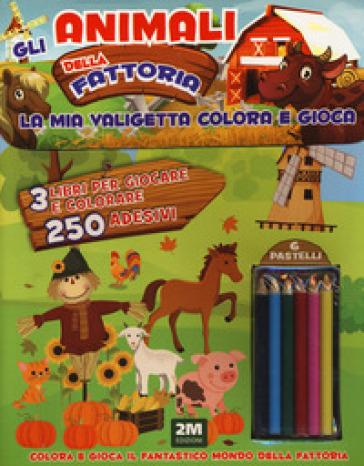 Gli animali della fattoria. Trendy model. La mia valigetta colora e gioca. Con adesivi. Con gadget