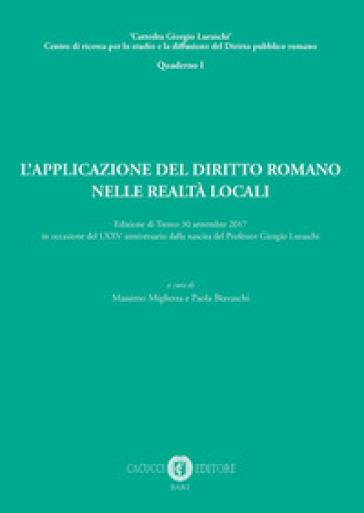 L'applicazione del diritto romano nelle realtà locali - P. Biavaschi | Rochesterscifianimecon.com