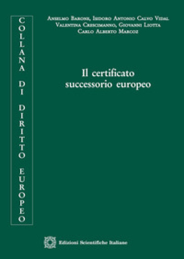 Il certificato successorio europeo