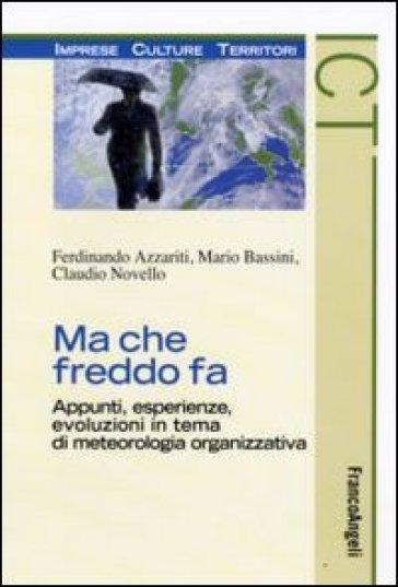 Ma che freddo fa. Appunti, esperienze, evoluzioni in tema di meteorologia organizzativa - Ferdinando Azzariti | Jonathanterrington.com