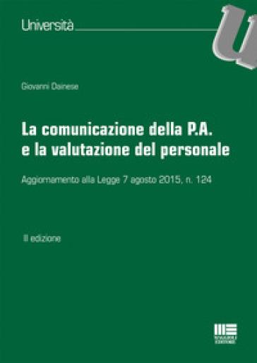 La comunicazione della P.A. e la valutazione del personale - Giovanni Dainese  