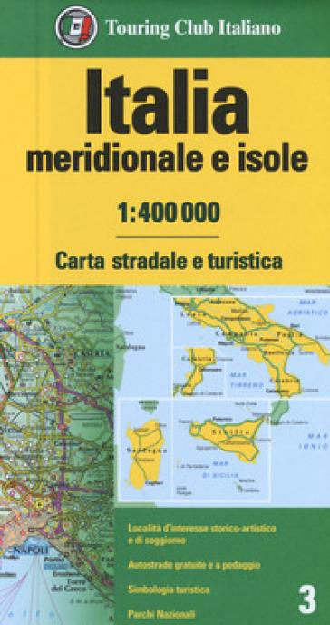 ITALIA MERIDIONALE E ISOLE 1:400.000. CA