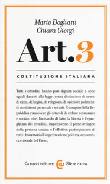 COSTITUZIONE ITALIANA: ARTICOLO 3