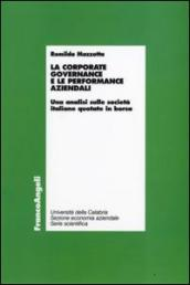La corporate governance e le performance aziendali. Un