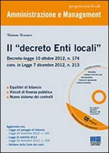 Il «decreto Enti locali». Con CD-ROM - Tiziano Tessaro  
