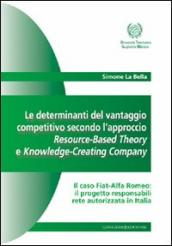 Le determinanti del vantaggio competitivo. L'approccio resource-based theory e knowledge-creating company