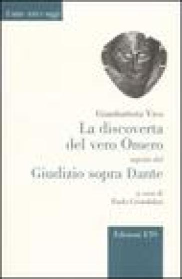 La discoverta del vero Omero-Giudizio sopra Dante - Giambattista Vico | Rochesterscifianimecon.com