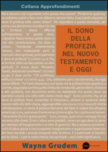 Il dono della profezia nel Nuovo Testamento e oggi - Wayne Grudem pdf epub