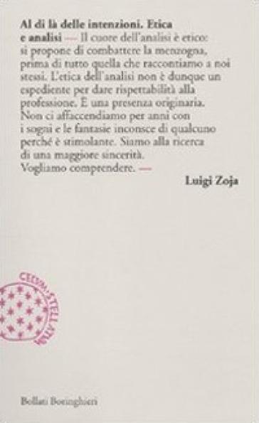 Al di là delle intenzioni. Etica e analisi - Luigi Zoja pdf epub